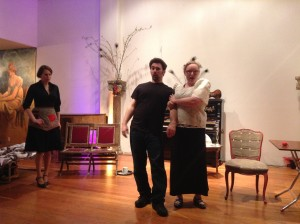 Sarah Eve Brand, Jeffrey Taylor and Amber Rose Johnson in Old Maid and the Thief - Photo credit Sarah Young